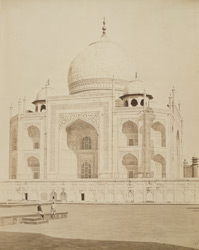 The Taj from the lower Terrace, Agra.
